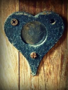 Even our cabin door was romantic.