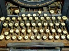 Old Corona typewriter in the farmhouse. Beautiful.