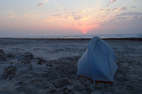 Sunrise out my front tent door.