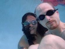 smiling underwater