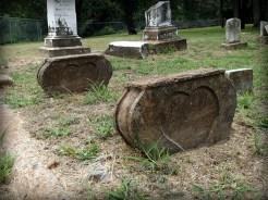 Heart-shaped gravestones in Springfield Cemetery