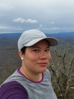 Blood Mountain selfie! The sun was in my eyes or I would've looked happier.