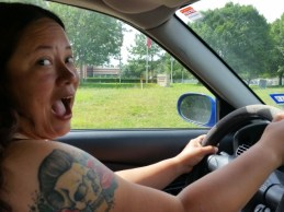 Driving! Scary.