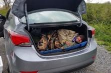 Hiker in trunk