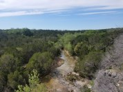 View of stream down below from the top of the Spicewood Canyon Trail.