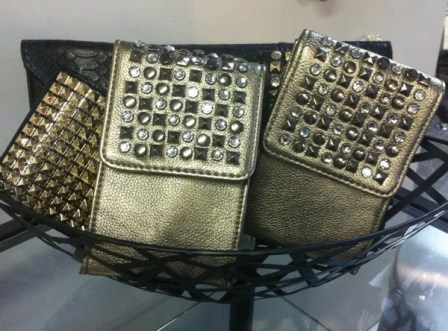 Bags with sparkles.