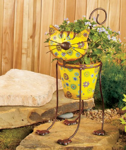 cat-shaped-planter