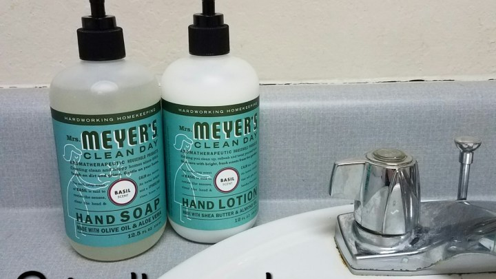 Bring the spa home with Mrs. Meyers Clean Day Basil Liquid Hand Soap & Lotion