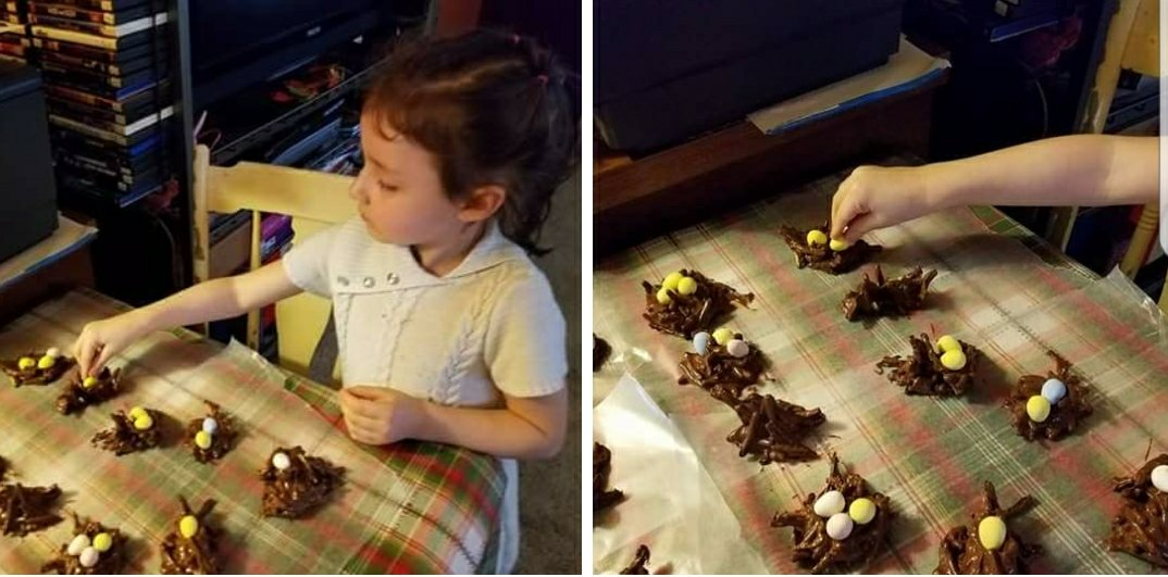 NO-BAKE CHOCOLATE BIRD EGG NEST COOKIES