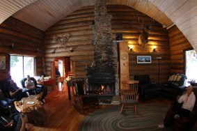The super cozy lodge after a long day of deep powder