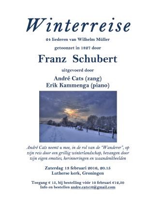 Winterreise Affiche Groningen 13-2-15
