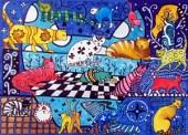 Cat Cocktail, Cat Art by Dora Hathazi Mendes.