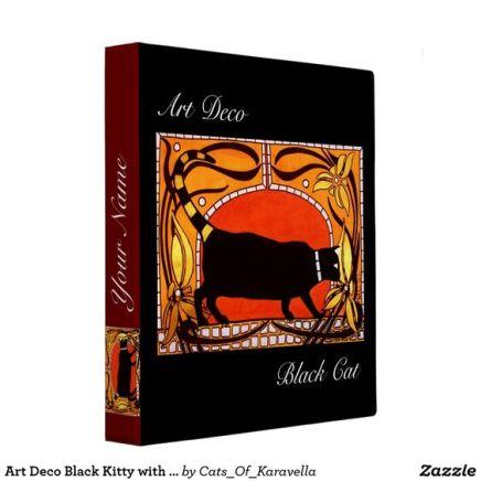 Art Nouveau Black Cat Binder