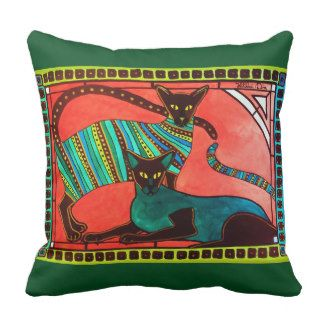 Legend of the Siamese pillow by Cats of Karavella