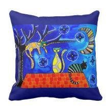 Night Shift Cats of Karavella Pillow