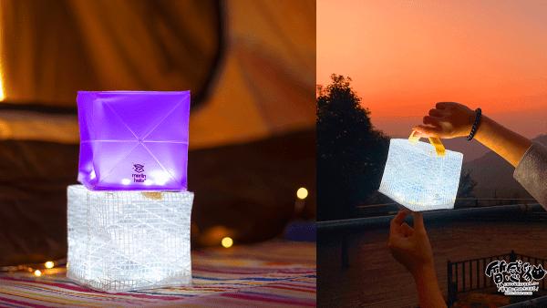 環保露營-發光泡芙|太陽能LED燈|露營燈、造型燈