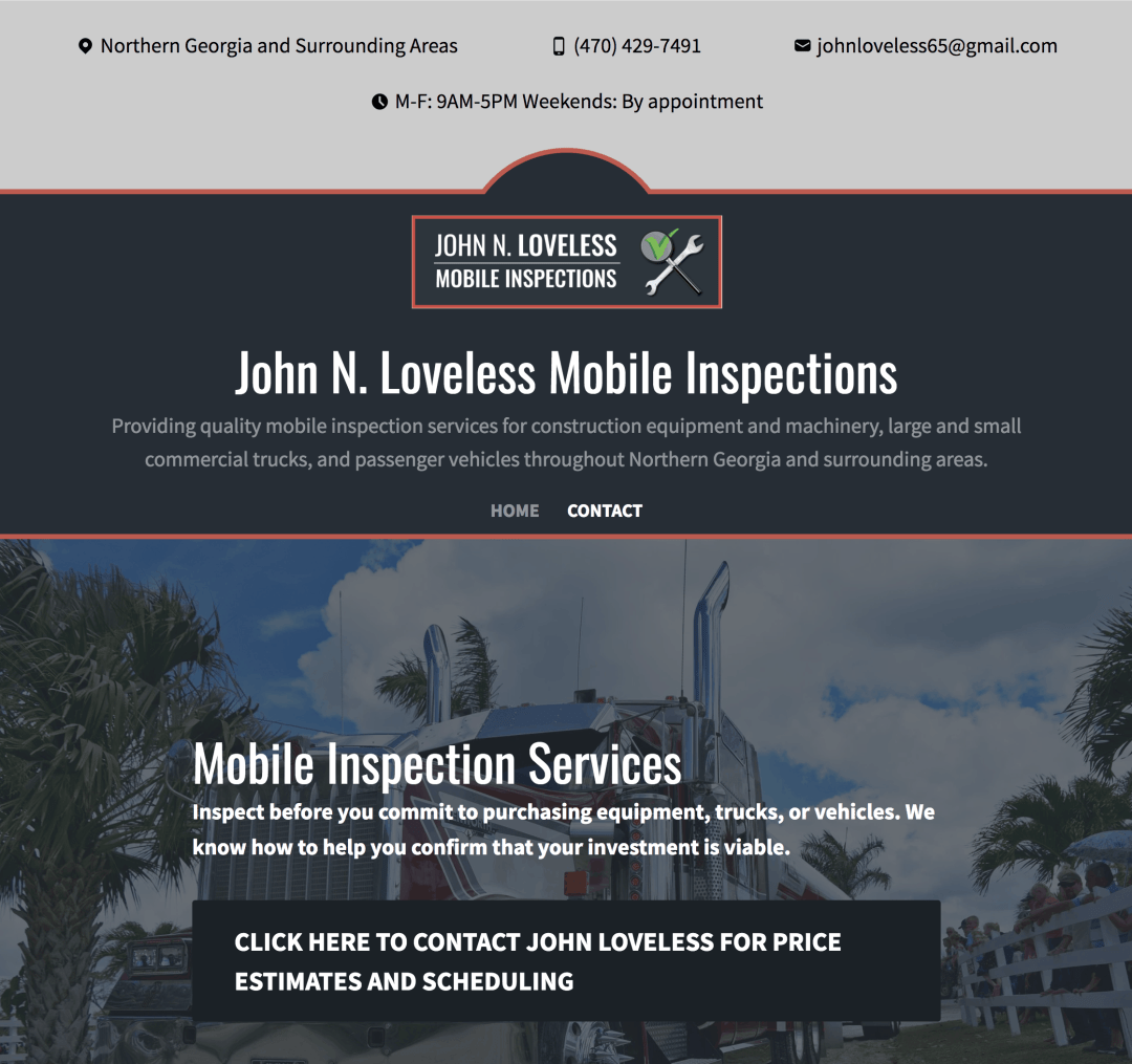 Mobile Inspections Website