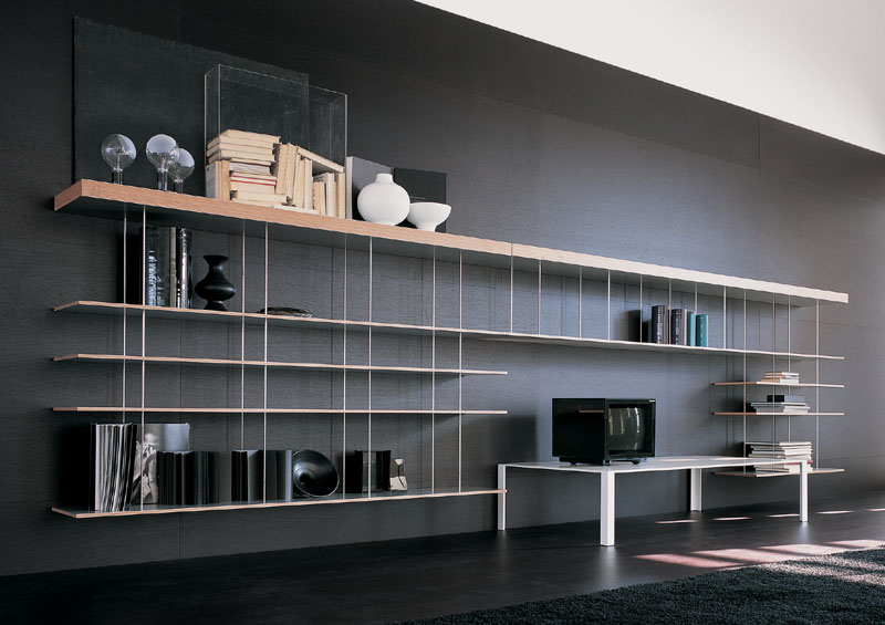 Suspended Bookcase Graduate By Molteni Cattelan