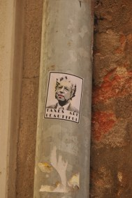 Some political signage in Venice.