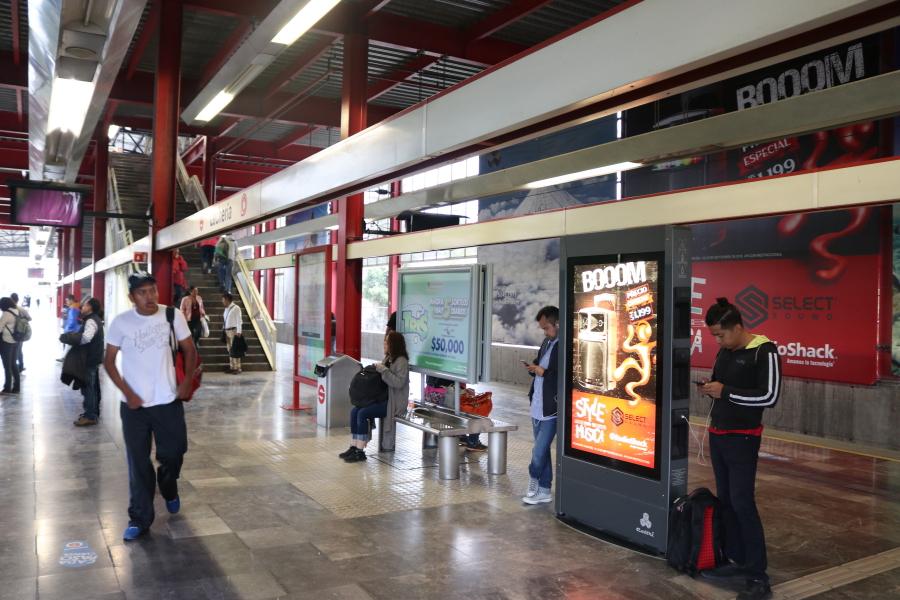 Espacios de publicidad en tren Suburbano