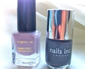 The colour polishes used