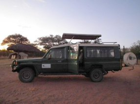Our game drive Jeep.