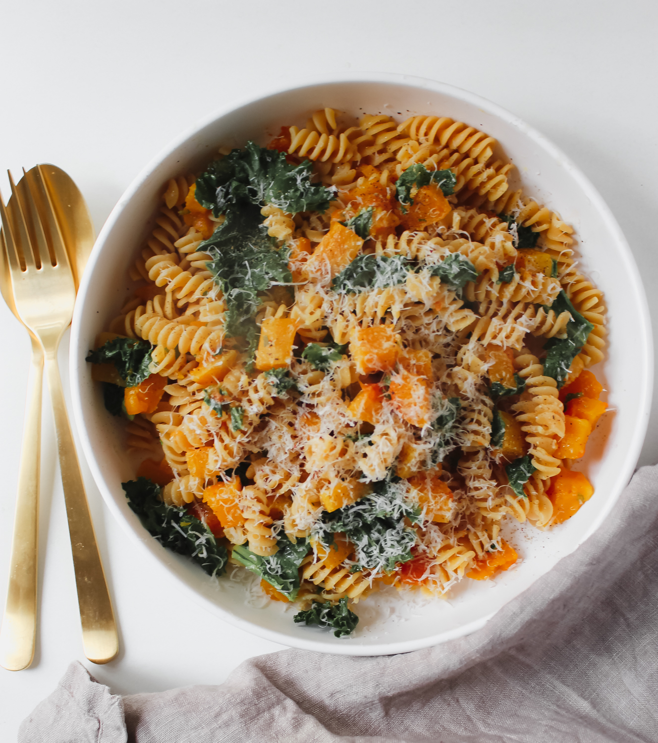Squash Pasta with Sage Lemon Butter