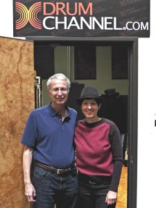 Don Lombardi and I in front of the DrumChannel control room.