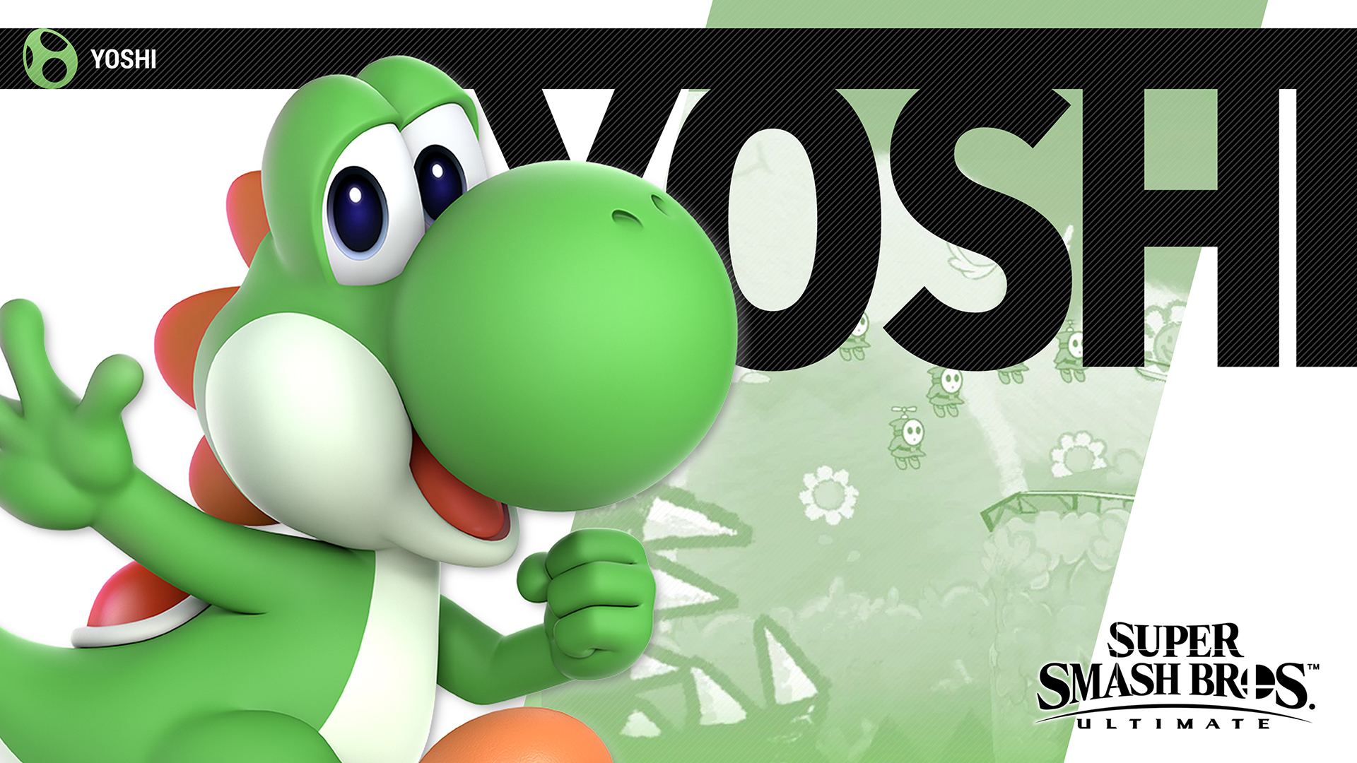 Super Smash Bros Ultimate Yoshi Wallpapers Cat With Monocle