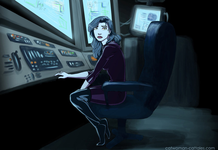 Selina in the Batcave