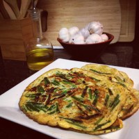 "Chinese Egg & Chive ""Pancakes"""