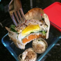 Turkey-Spinach-Sweet Pot Egg Muffins
