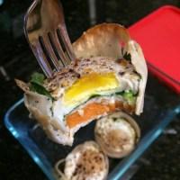 Turkey-Spinach-Sweet Pot Egg Muffins