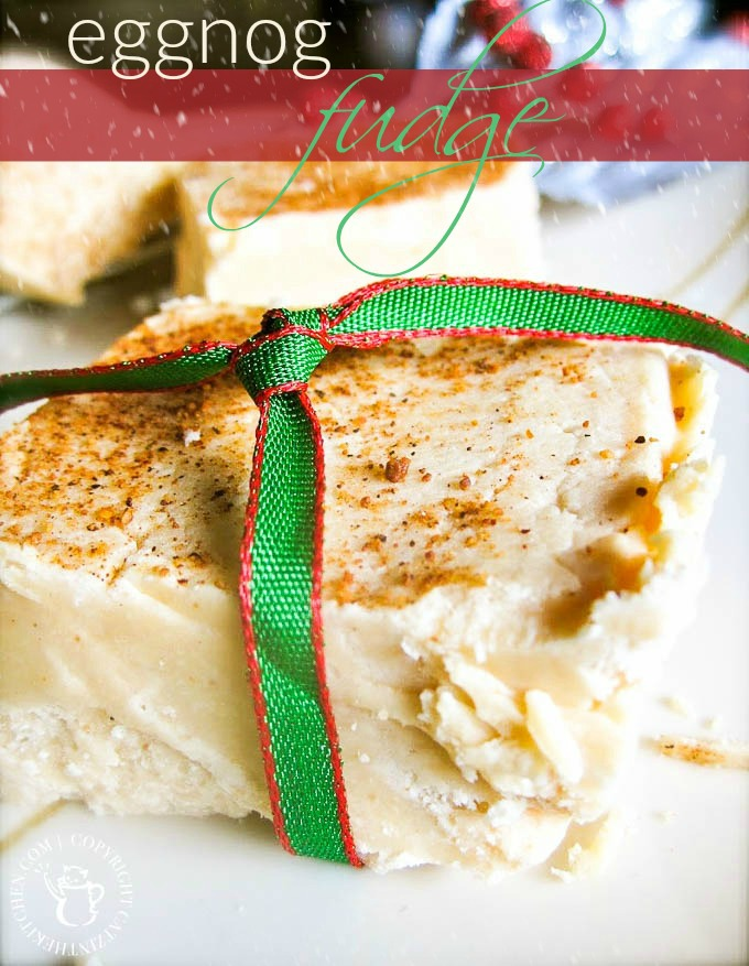 Eggnog Fudge | Catz in the Kitchen | catzinthekitchen.com | #fudge #eggnog #Christmas