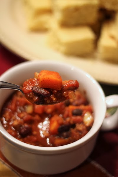 slow cooker sweet potato potato turkey chili