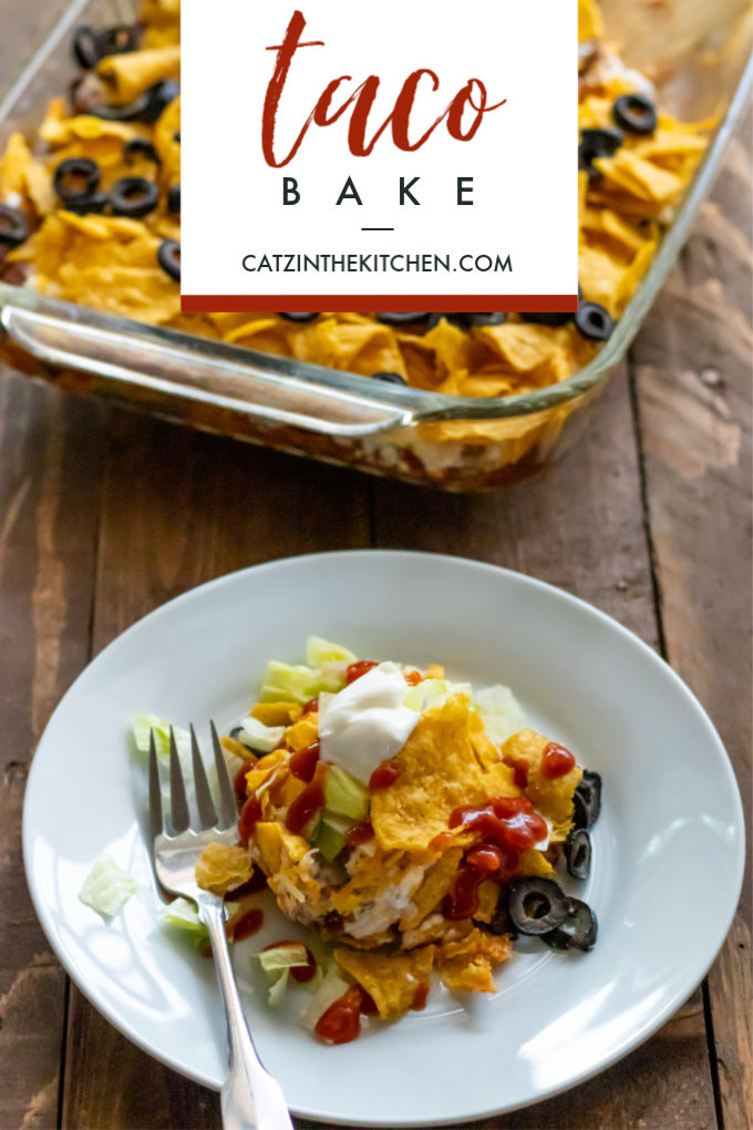 Need an easy, tasty recipe you can make ahead and finish in a hurry? This ridiculously simple taco bake's got you covered.