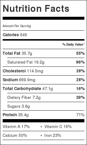 Tex Mex Taco Pasta Nutrition