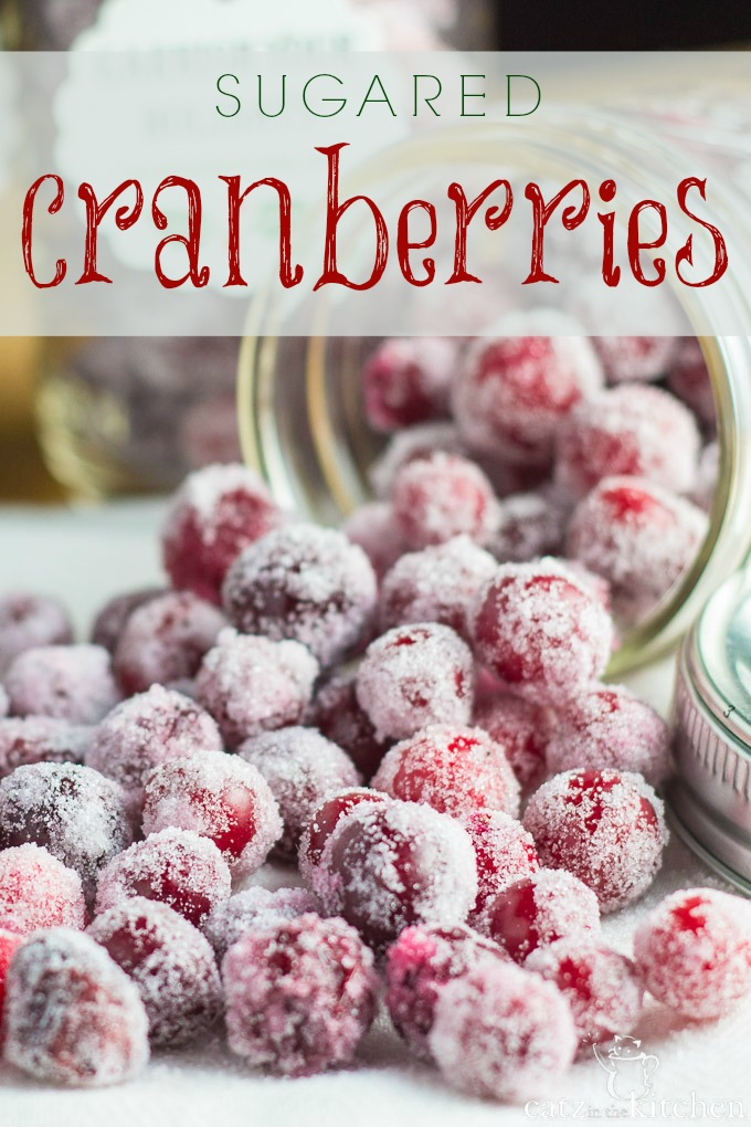 Sugared cranberries are such a simple little treat that don't take a lot of time at all, and you could easily have little hands help you if you have children in the home.