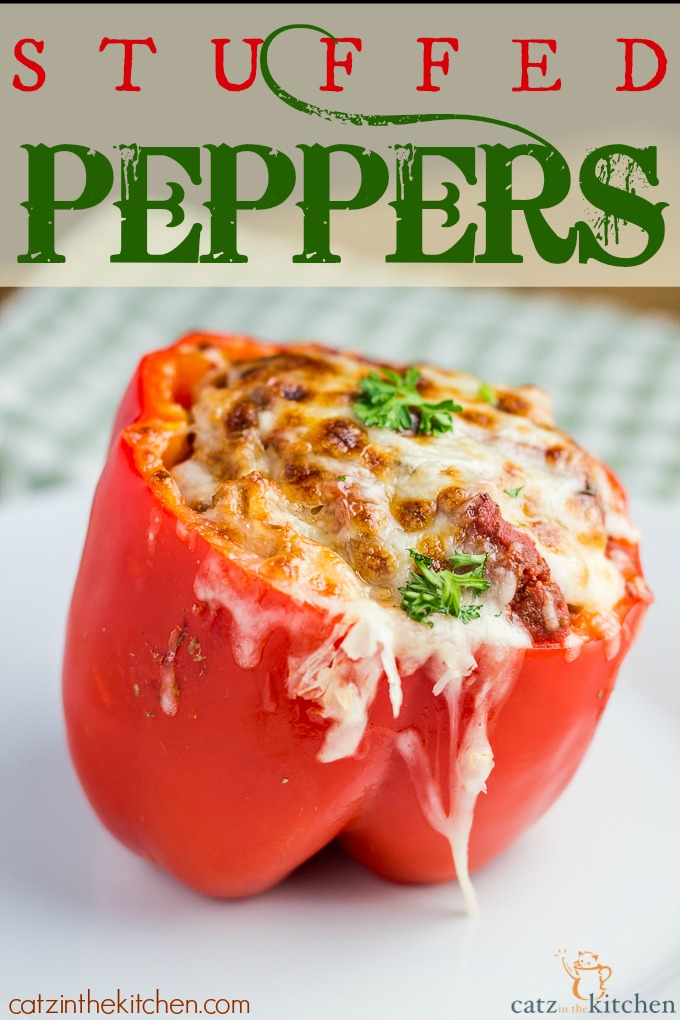 Stuffed Peppers | Catz in the Kitchen | catzinthekitchen.com #peppers