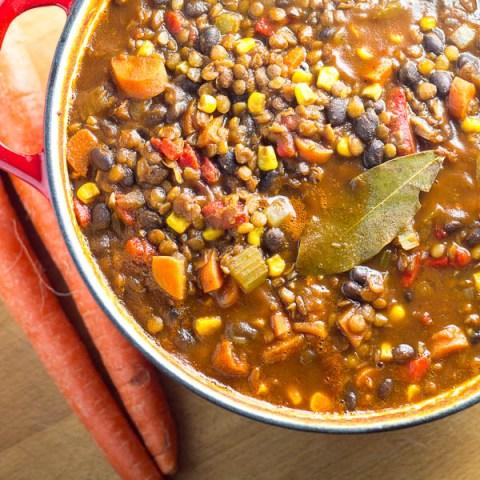 Black Bean & Lentil Chili