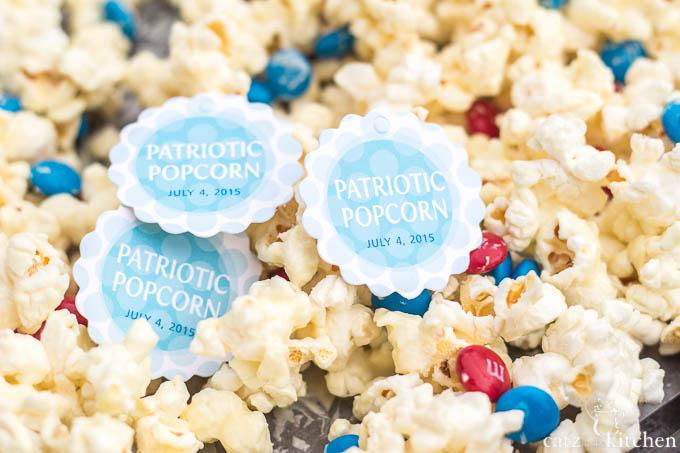 4th of July Favor: Patriotic Popcorn | Evermine Blog | www.evermine.com #ediblegift #independenceday #recipe