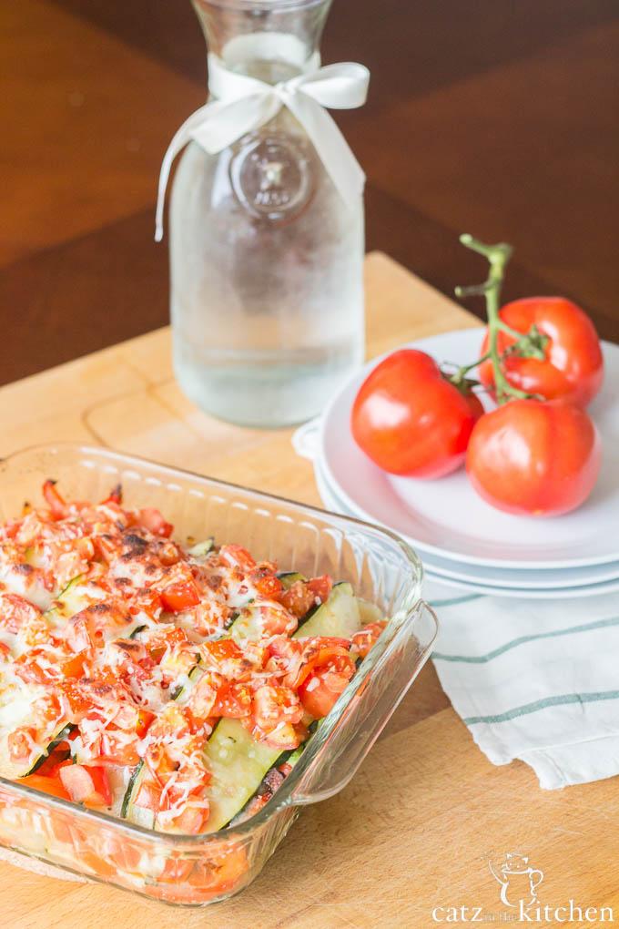 Roasted Zucchini Lasagna | Catz in the Kitchen | catzinthekitchen.com | #zucchini