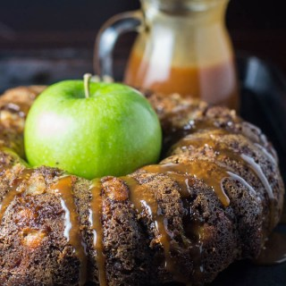 Salted Caramel Apple Cake   Catz in the Kitchen   catzinthekitchen.com   #caramel #fall #cake