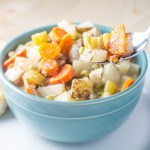 Slow Cooker Creamy Chicken Stew | Catz in the Kitchen | catzinthekitchen.com | #fall #stew #slowcooker