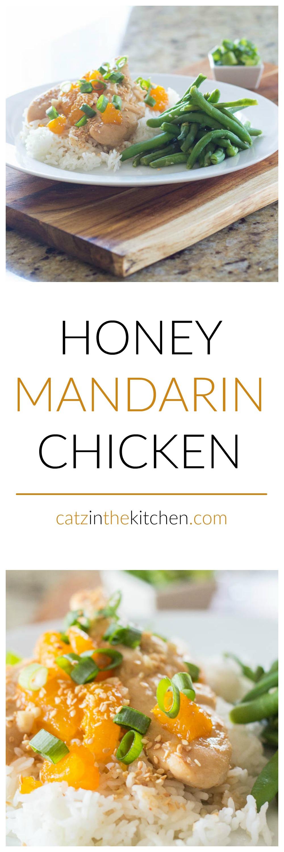 Honey Mandarin Chicken | Catz in the Kitchen | catzinthekitchen.com | #chicken #honey #oranges