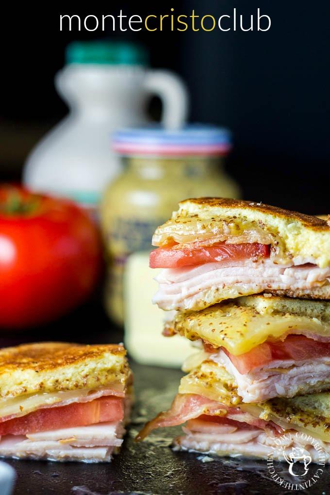Monte Cristo Club | Catz in the Kitchen | catzinthekitchen.com | #montecristo #sandwich #club #recipe