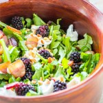 This slightly modified version of Fogo de Chão's delectable Blackberry Arugula Salad is an easy affordable way to get your fix between visits!