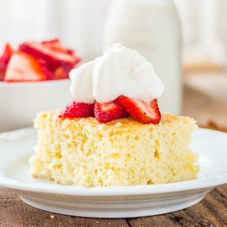 This Tres Leches cake, while perfect for Cinco de Mayo (or just because), is one of those cakes that is easy to make and can also easily be made several days in advance. In fact, making it one day in advance even makes the cake taste better!