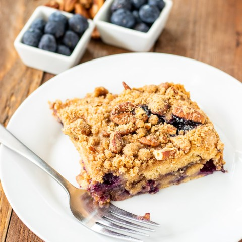 Make it with fresh berries or frozen - either way, this blueberry coffee cake is an easy, slightly indulgent way to start any morning!