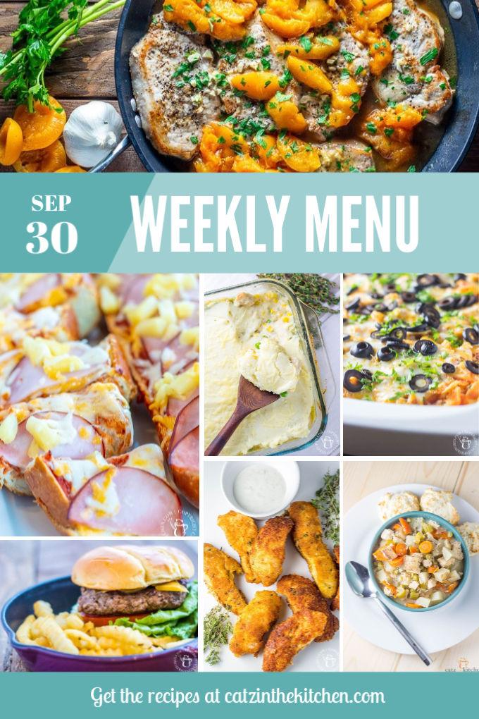 Weekly Menu Sep 30
